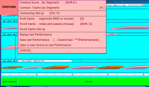E-Scape Perform menu (switch)
